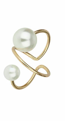 Pearl and Gold ring Topshop