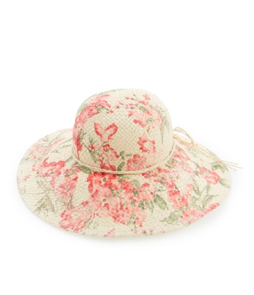 David and Young floral straw hat