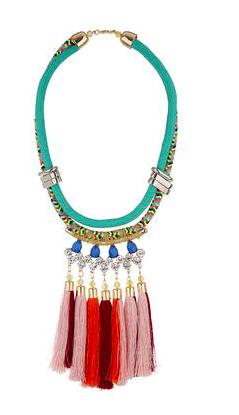 Topshop tassel colorful necklace