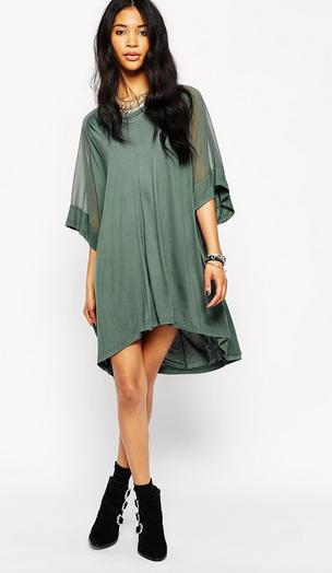 Asos green swing dress