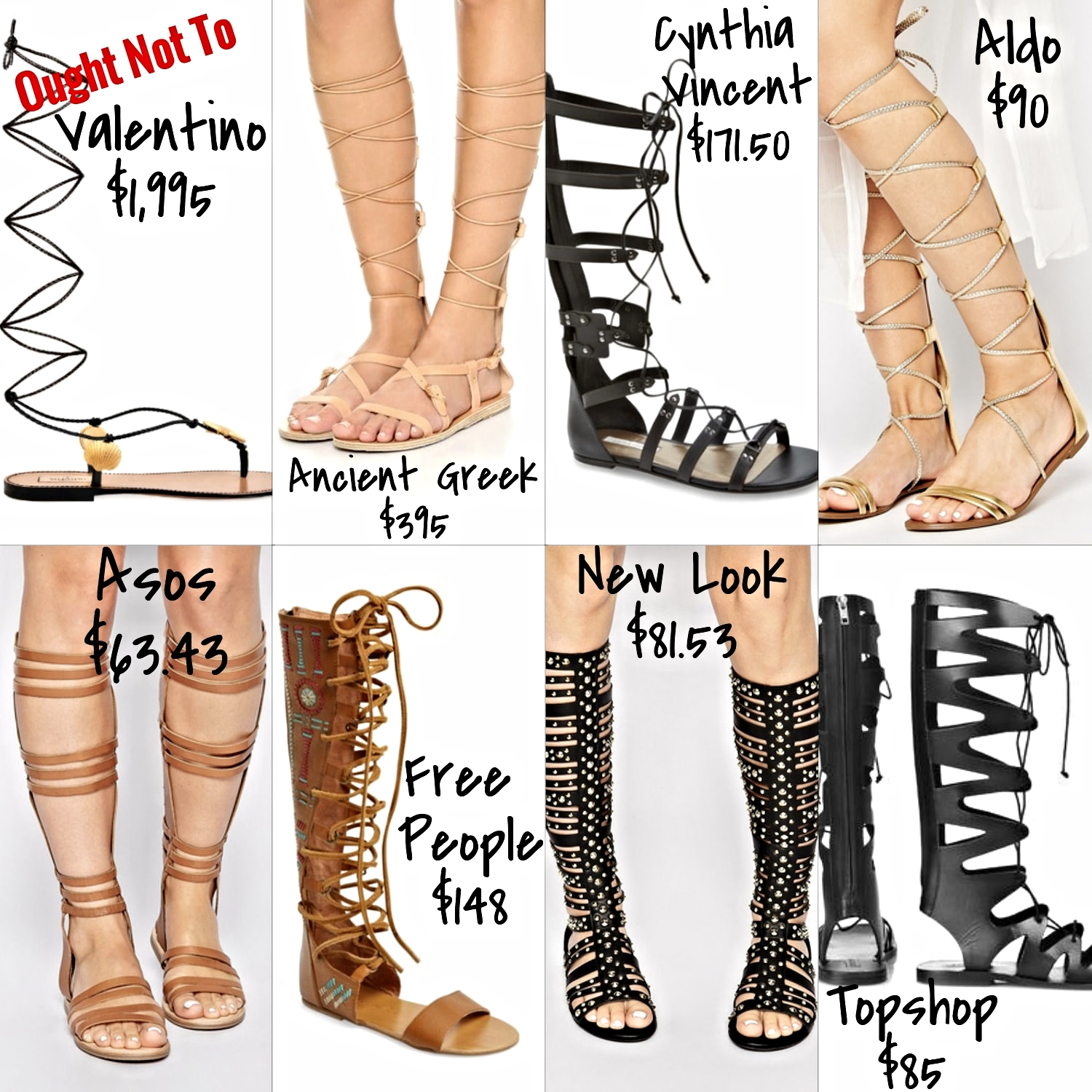 affordable tall gladiator sandals