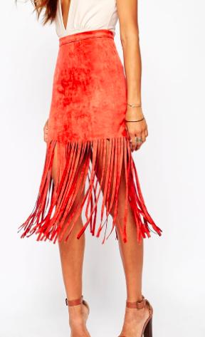 Missguided fringe skirt
