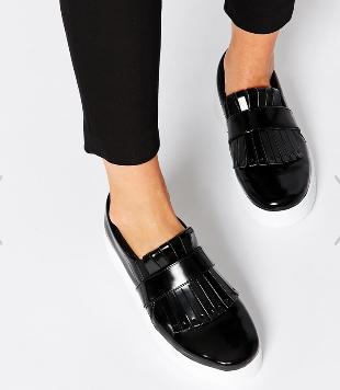 Asos fringe leather sneaker