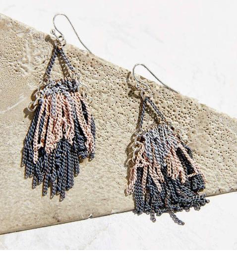 Urban Outfitters fringe earrings