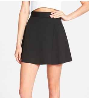 Topshop black skater mini skirt