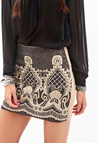 Forever 21 sequined mini skirt
