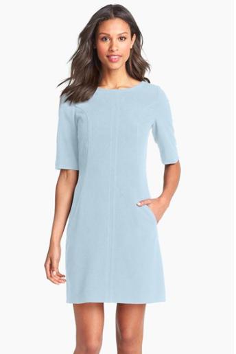 Tahari pale blue dress