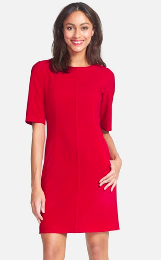 Tahari red dress