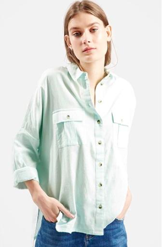 Topshop mint shirt