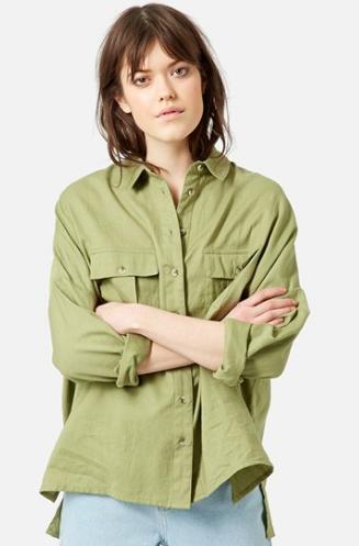 Topshop olive shirt