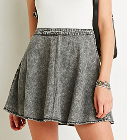 Forever 21 grey acid skirt