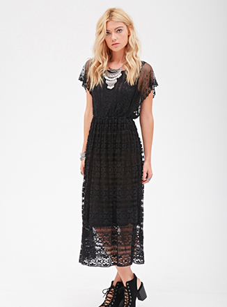 Forever 21 lace sheer dress