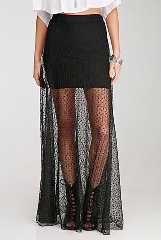 Forever 21 maxi sheer skirt