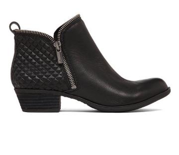 Lucky Brand studded black booties