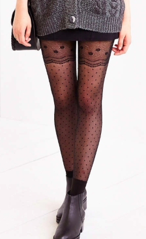 Urban Outfitters sheer polka dot tights