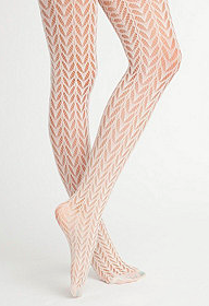 American Apparel cream fishnets