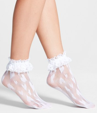Betsey Johnson sheer socks