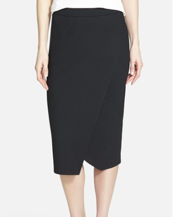 Eileen fisher black midi skirt