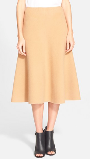 Tibi wool midi skirt