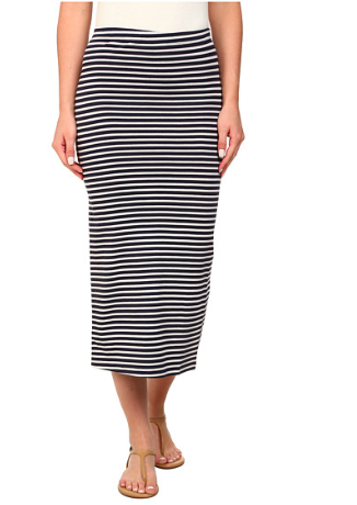 Billabong striped midi skirt