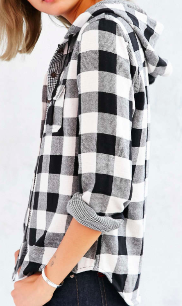 Urban Outfitters hooded plaid shirt