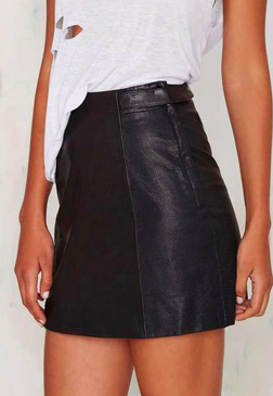 Nasty Gal leather mini skirt