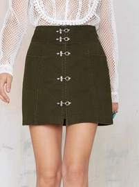 Nasty Gal buckle mini skirt