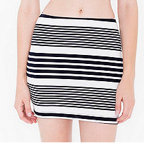 American Apparel striped mini skirt