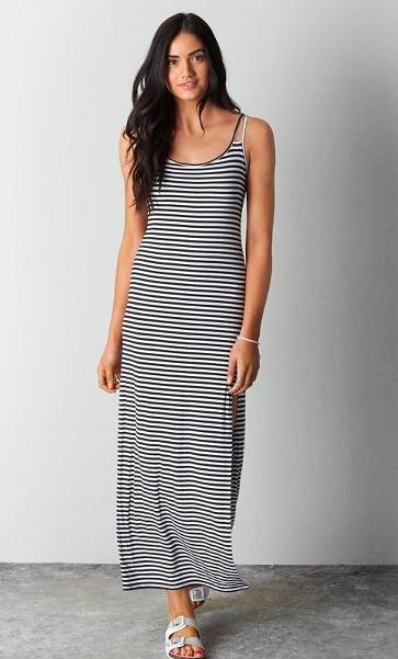 AE striped maxi dress