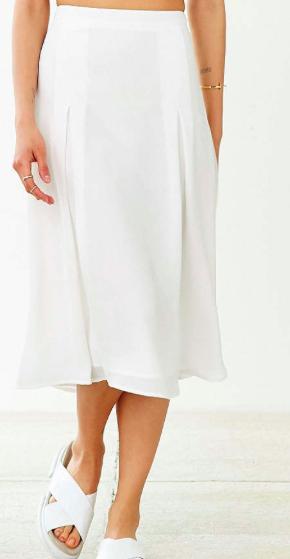 Urban Outfitters white midi skirt