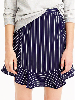 Jcrew pinstripe mini skirt
