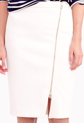 Jcrew zip pencil skirt