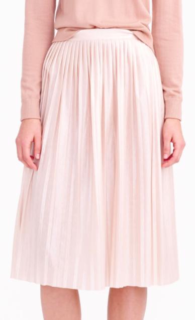Jcrew midi pleated skirt