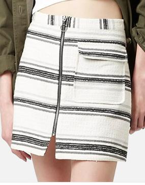 Topshop mini striped skirt
