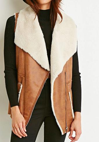 Forever 21 faux shearling vest