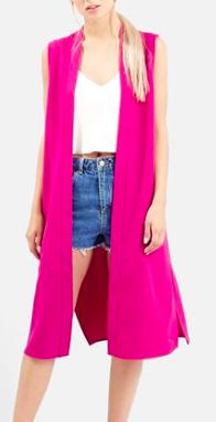 Topshop pink vest