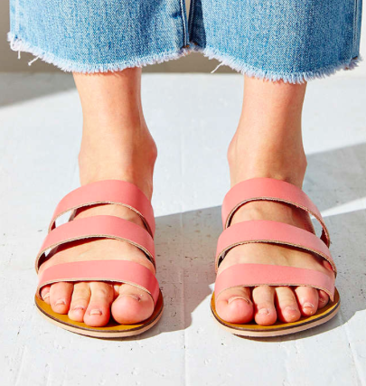 Urban Outfitters pink sliders