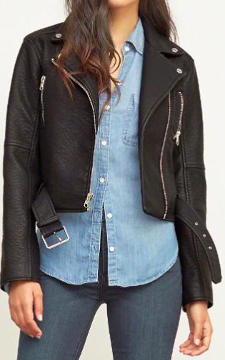 Abercrombie vegan leather jacket