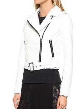 BB Dakota white faux leather jacket