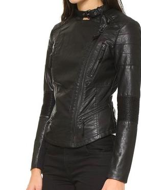 Blank Denim faux leather jacket