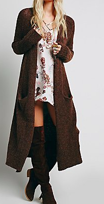 Free People Long Chunky Cardigan