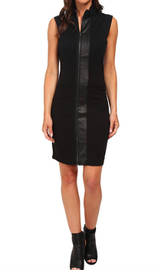 G-star leather zip dress