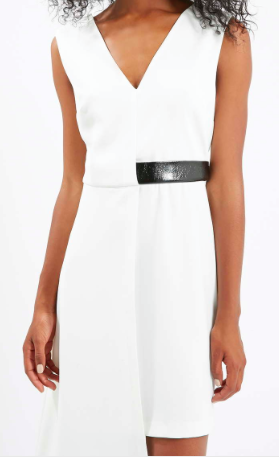Tiptop leather belt dress