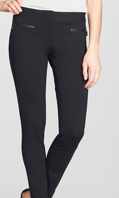 Paige Denim leather accented pants