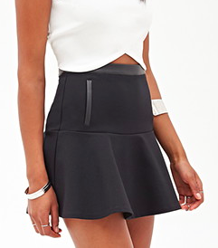 Forever 21 leather trim mini skirt