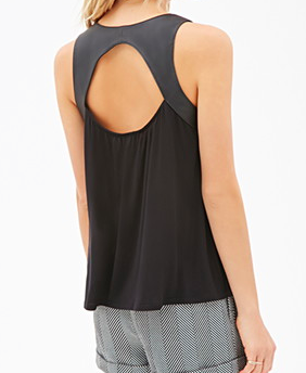 Forever 21 Leather accent tank top