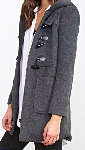 Forever 21 hooded coat