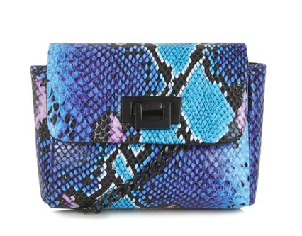 Topshop snakeskin small crossbody bag