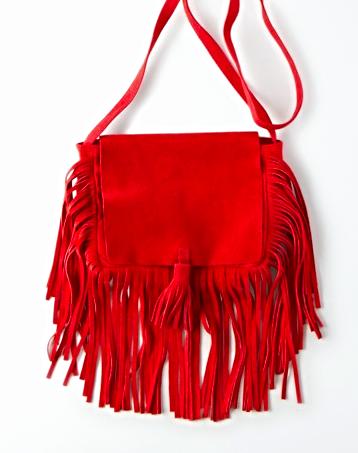 AE leather fringe crossbody bag