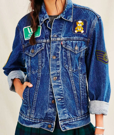 Urban Outfitters patch denim jacket